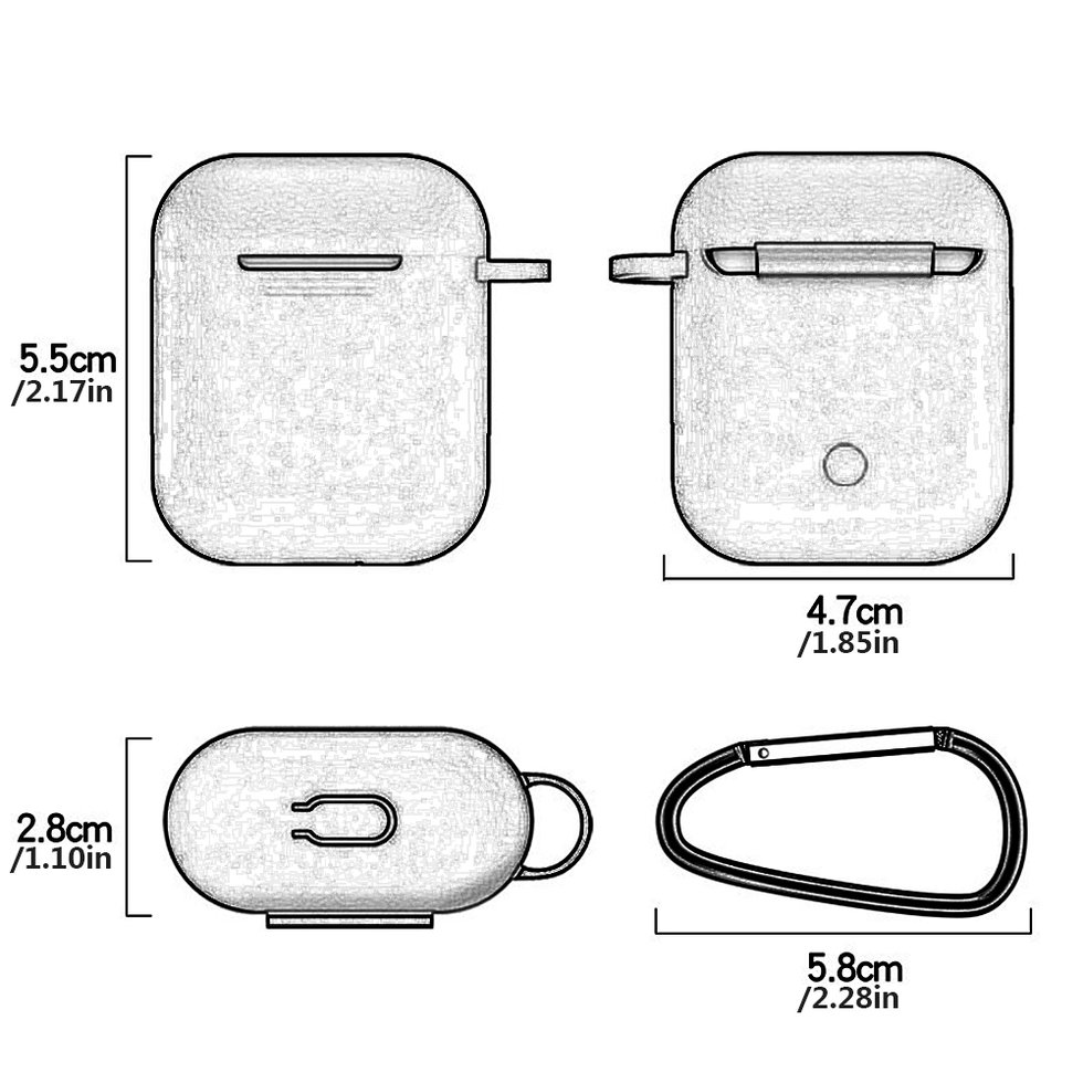 7 in 1 Strap Holder Silicone Case for Apple Airpods