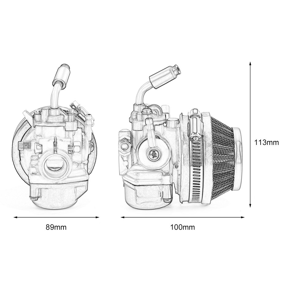Two-Stroke Engine Carburetor W/ Air Filter for Motorcycle