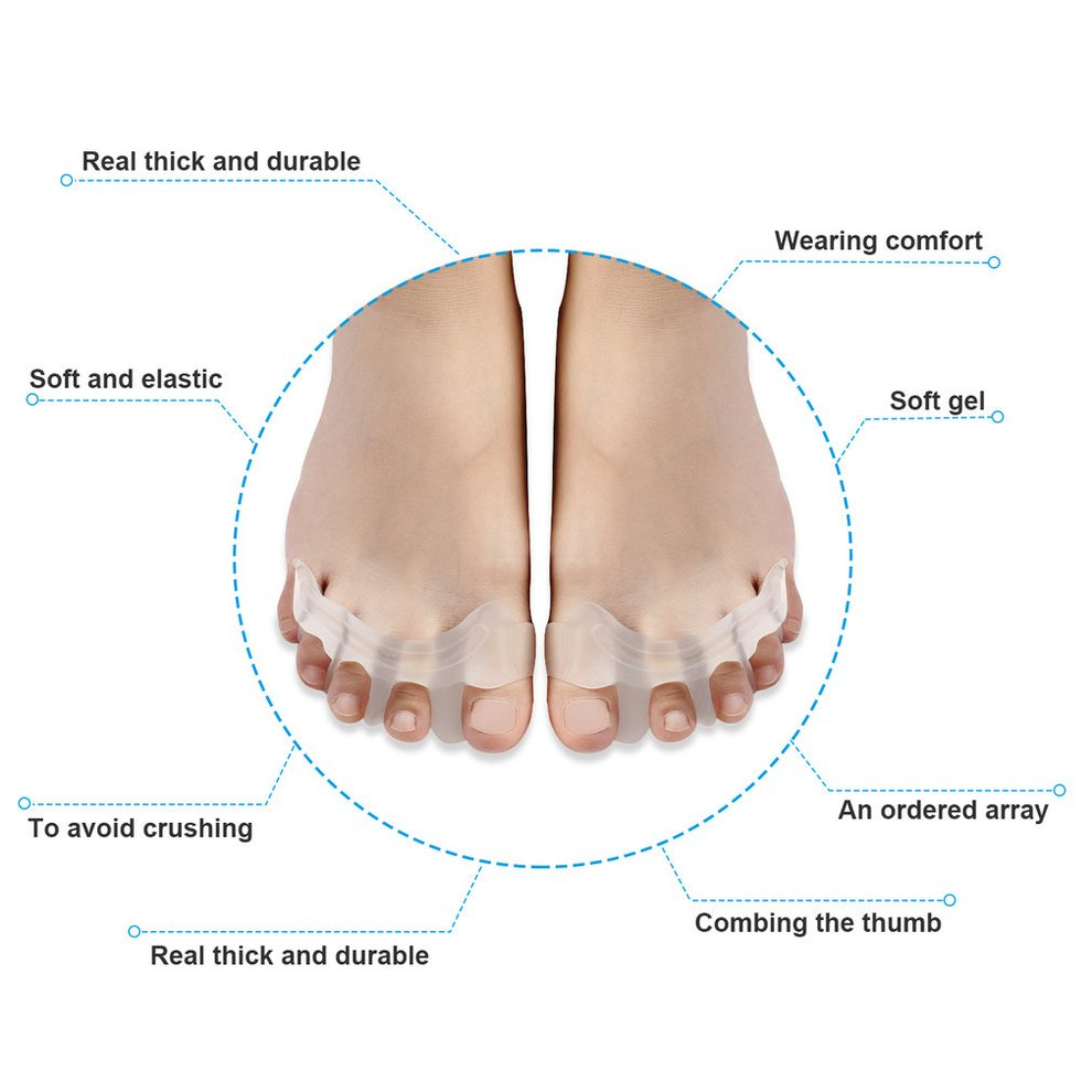 hight resolution of outad gel toe separator toe bunion relief toe straightener toe stretchers