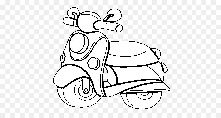 Mewarnai gambar untuk anak-anak: Mewarnai Gambar Motor Vespa