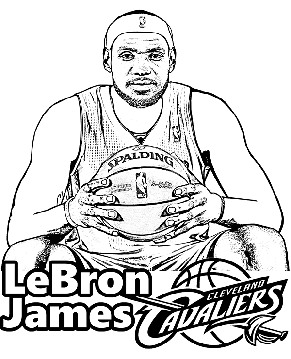 Lebron James Coloring Pages Lakers : lebron, james, coloring, pages, lakers, Basketball, Coloring, Pages, Lebron, James, #1595088, Images, PNGio