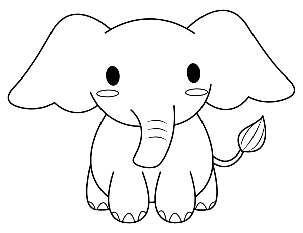 Cute Elephant Coloring Pages Png Free Cute Elephant Coloring Pages Png Transparent Images 148511 Pngio