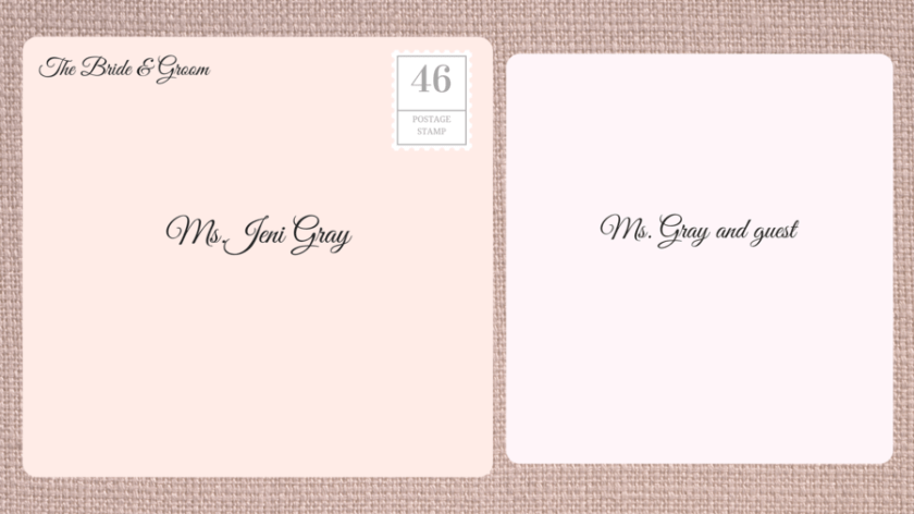 Addressing Double Envelope Wedding Invitations To Divorced Woman