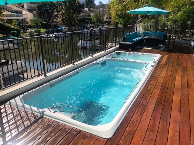 swim spa renovation backyard swim spa