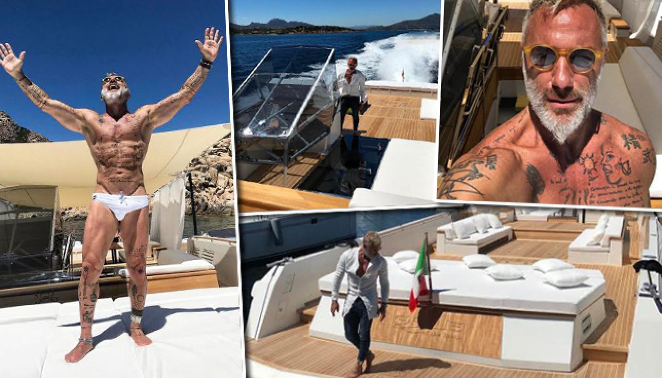 Gianluca Vacchi shopping extralusso compra una terrazza sul mare  Tgcom24