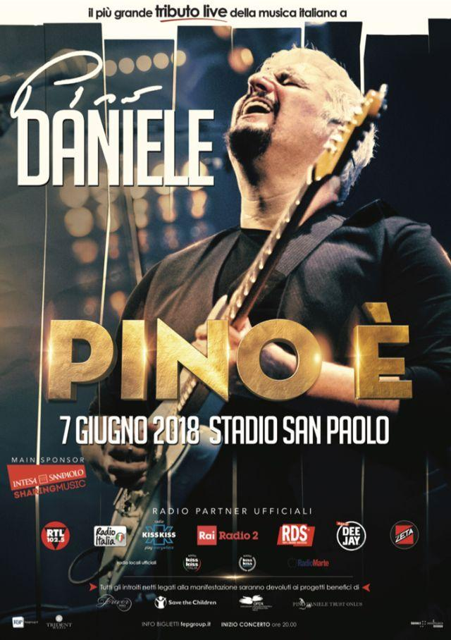 """""""Pino E'"""", da Jovanotti alla Mannoia: un concertone tributo per Pino Daniele a Napoli"""