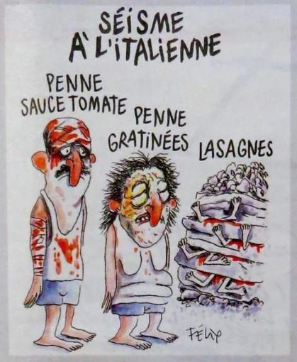 Charlie Hebdo, le vignette sul sisma che fanno discutere