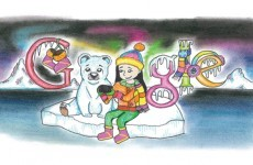 Students Compete Drawing Shown Google' Irish Homepage