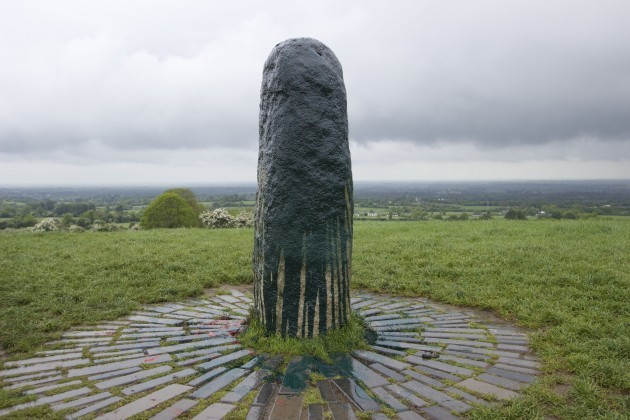 The Famous Standing Stone On The Hill Of Tara Was