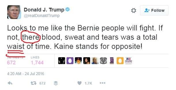 Grammar nerds will grimace at Donald Trumps latest tweet