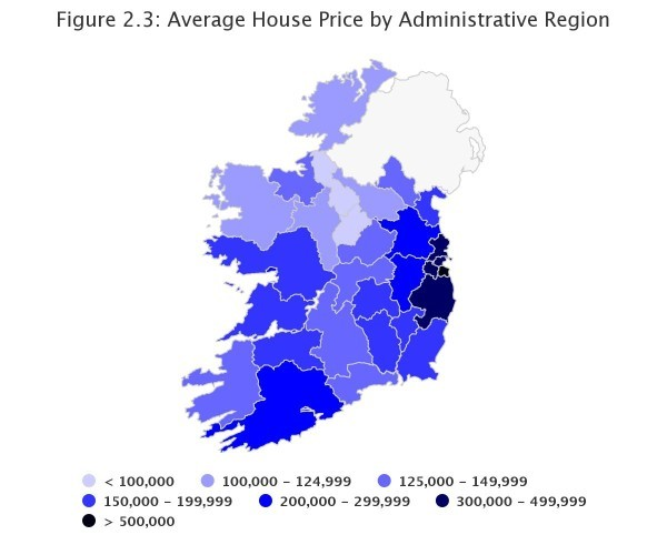 Chart also only one irish county has an average house price under  ac rh thejournal