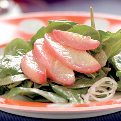 Arugula Salad with Pomegranate Dressing