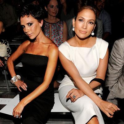 NY Fashion Week Spring 2009, Day 4, Victoria Beckham, Jennifer Lopez