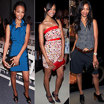 Zoe Saldana, Fashion Week, It Girls