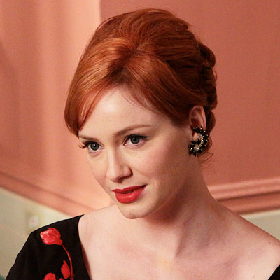 Christina Hendricks-Red Lipstick