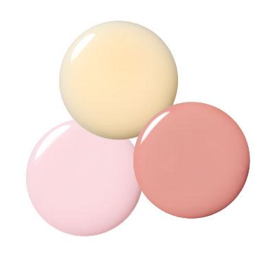 Nail Polish-L'Oréal Paris in Innocence-Essie in Angel Food-MAC in Blissed Out