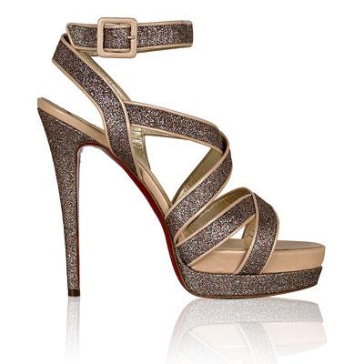 Christian Louboutin Straratata Glitter Sandals