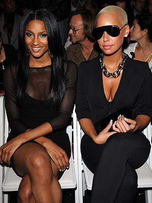 Ciara and Amber Rose - Nicole Miller - Day 2 - New York Fashion Week