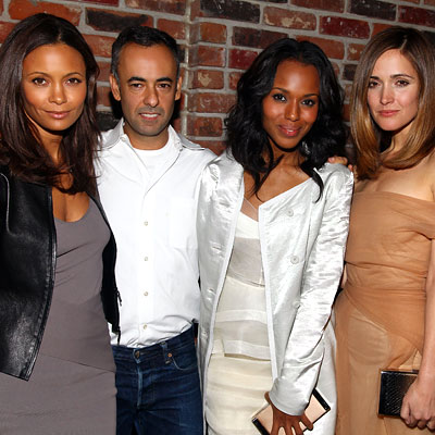 Thandie Newton, Francisco Costa, Kerry Washington and Rose Byrne
