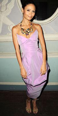 Thandie Newton in Vivienne Westwood dress and Solange Azagury-Partridge necklace