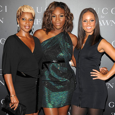 Mary J. Blige, Serena Williams and Alicia Keys