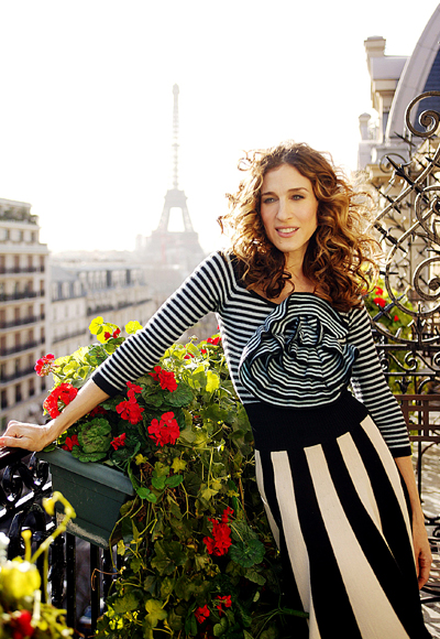 Look of the Day photo | 9. Carrie's Parisian Stripes