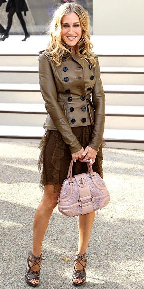 Sarah Jessica Parker wearing Burberry