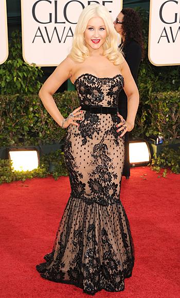 Golden Globes 2011 - Christina Aguilera - Zuhair Murad