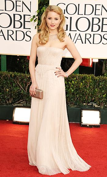Golden Globes 2011 - Dianna Agron - J. Mendel