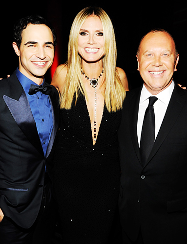 YesWeTrend- Zac Posen, Heidi Klum and Michael Kors Fashion Week Stars 2013 foto: Instyle