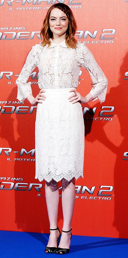 Emma Stone in Dolce & Gabbana