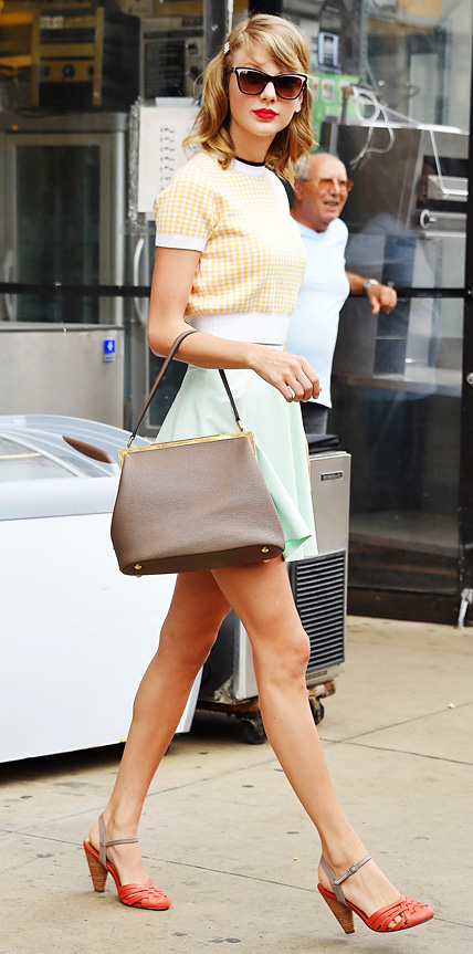 Taylor Swift in Miu Miu and Topshop