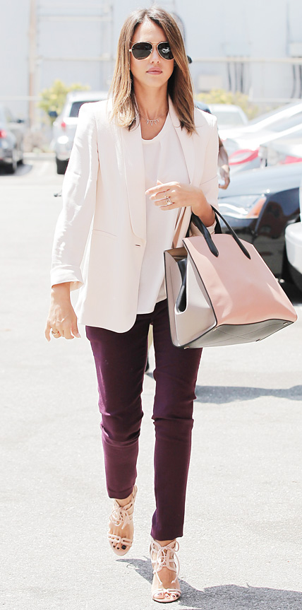 Jessica Alba in Max Mara and Julia Korol