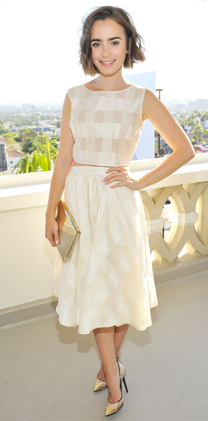 Lily Collins in Houghton