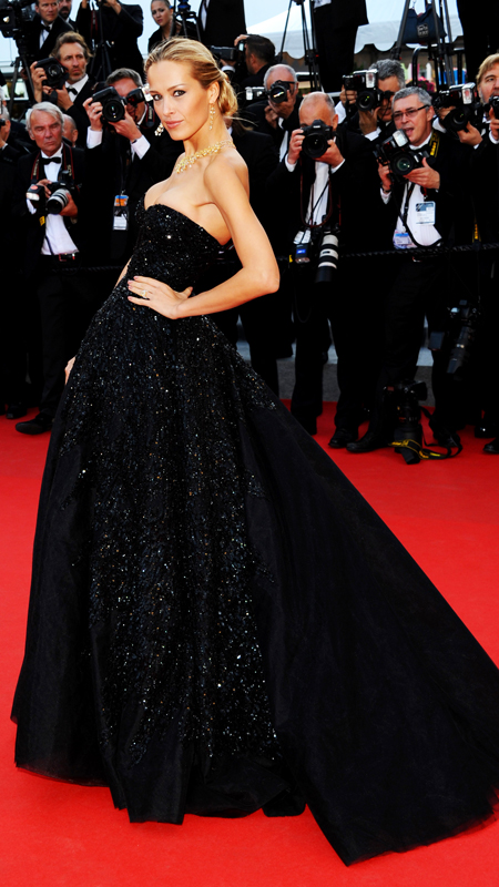 "Petra Nemcova attends the ""Two Days, One Night"" premiere at the 67th Annual Cannes Film Festival"