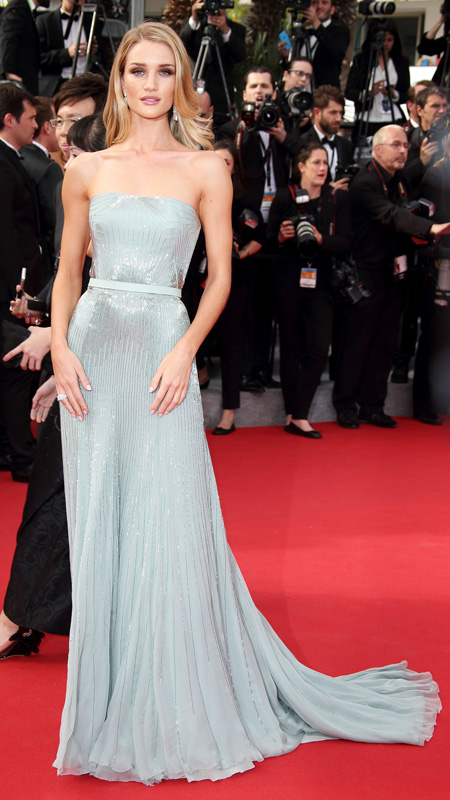 """Rosie Huntington-Whiteley attends  """"The Search"""" Premiere at the 67th Annual Cannes Film Festival"""