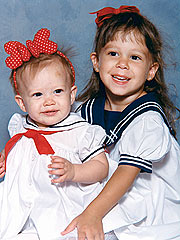 Disney Teens Childhood Pics - Disney and Ashley rock
