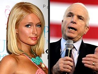 Paris Hilton's Cold Reaction to McCain Commercial | John McCain, Paris Hilton