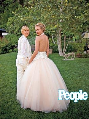 Ellen & Portia's Wedding Album| Celebrity Weddings, Ellen DeGeneres, Portia de Rossi