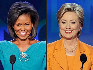 Hillary Clinton and Michelle Obama