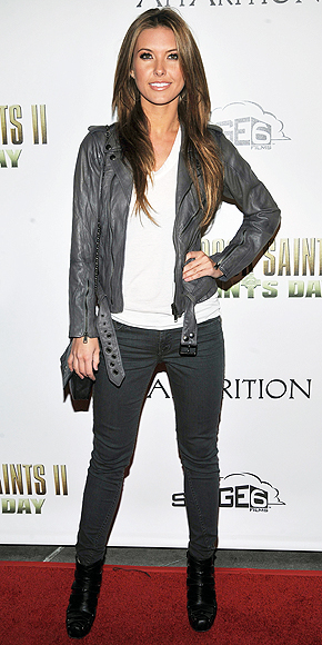 GRAY LEATHER JACKETS photo | Audrina Patridge