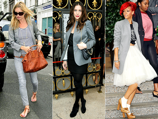 GREY WOOL BLAZERS photo | Kate Moss, Liv Tyler, Rihanna