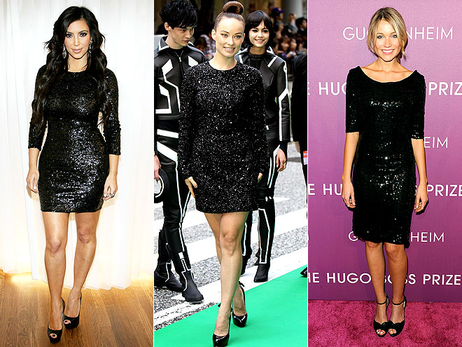 SEQUINED BLACK MINIS photo | Katrina Bowden, Kim Kardashian, Olivia Wilde