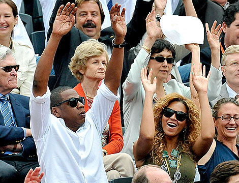 Off-Duty Hollywood: Jay-Z and Beyonce at the French Open | Beyonce Knowles, Jay-Z