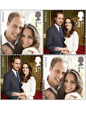 Kate Middleton & Prince William's Wedding Honored with Royal Stamps