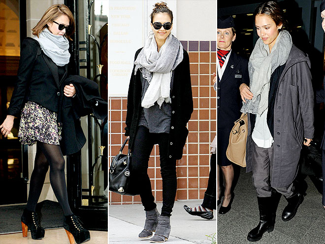 BRUNELLO CUCINELLI SCARF photo | Jessica Alba