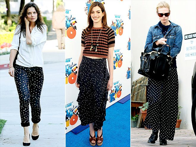 POLKA-DOT PANTS photo | Anne Hathaway, January Jones, Katie Holmes
