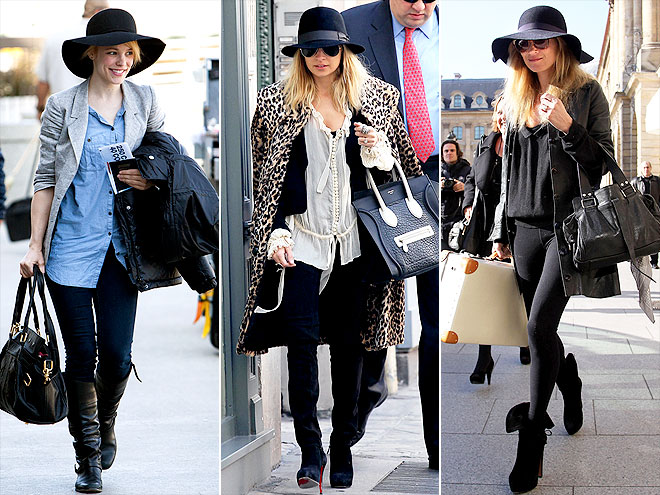 FLOPPY BLACK HATS photo | Kate Moss, Nicole Richie, Rachel McAdams
