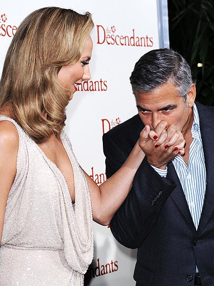 GEORGE & STACY   photo | George Clooney, Stacy Keibler