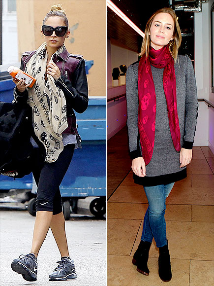 SKULL SCARVES photo | Emily Blunt, Nicole Richie